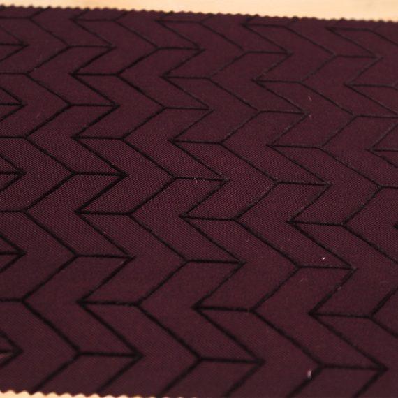 tissu violet flock