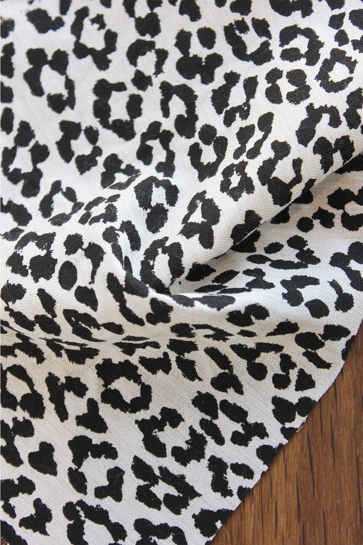 Tissu Twill Viscose Coton Imprim L Opard Folkandfabric